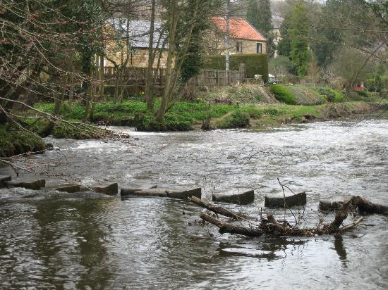 The Postgate Inn: Egton Bridge stepping stones