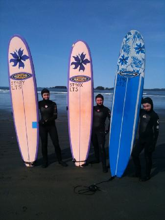 Sea Star Beach Retreat: The kids surfing!