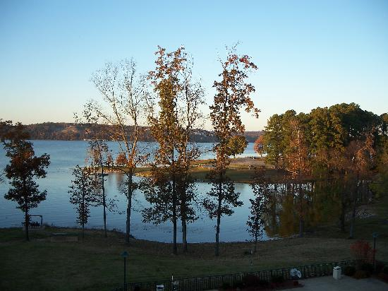 Pickwick Dam, TN: View from balconey in room