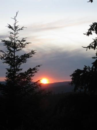 Eugene, OR : Sunset from the top of the mountain where we were camping