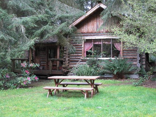 Guest House Log Cottages: side of cabin