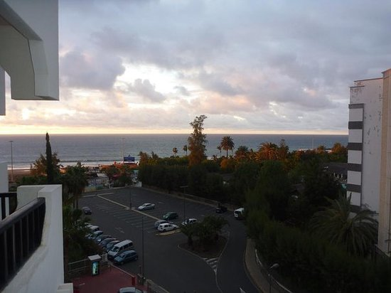 Gran Canaria, Espaa: the view of the beach from our room