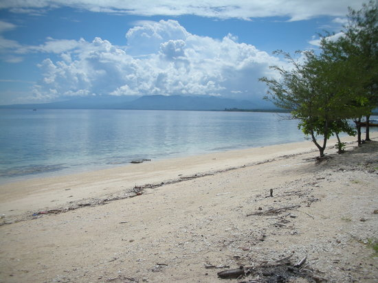 Gili Air, Indonesië: la spiaggia