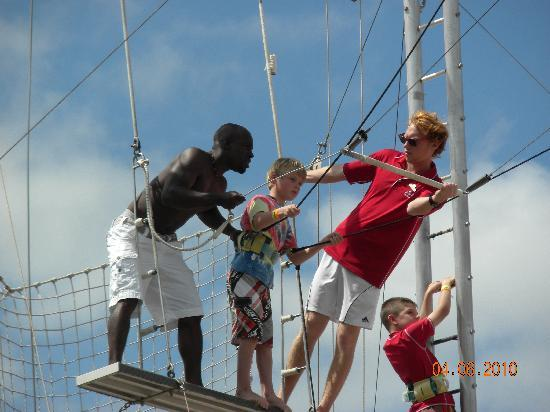 Port Saint Lucie, FL: Learning the Trapeze