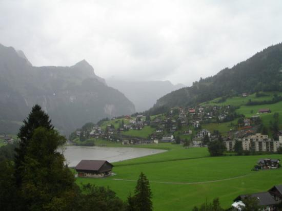 The view of the town of Engelberg was breathtaking from here.