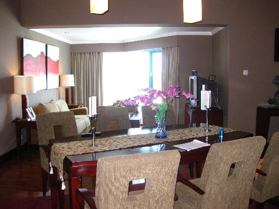 Dining Table And Living Room Picture Of Blue Sky Hotel Balikpapan TripAd