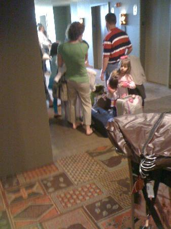 Grapevine, TX: Waiting in line. An ALL DAY affair at the great wolf lodge.