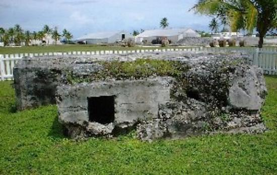 Kwajalein Island, Marshall Islands: 1960 the Japenese pill boxes are still there.