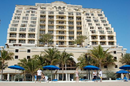 The Atlantic Resort & Spa: View from the beach