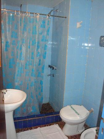 Hotel Libertador: Very Blue Bathroom