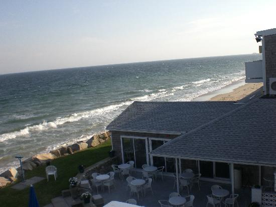Misquamicut, RI: View of the hotel's restaurant from our balcony.