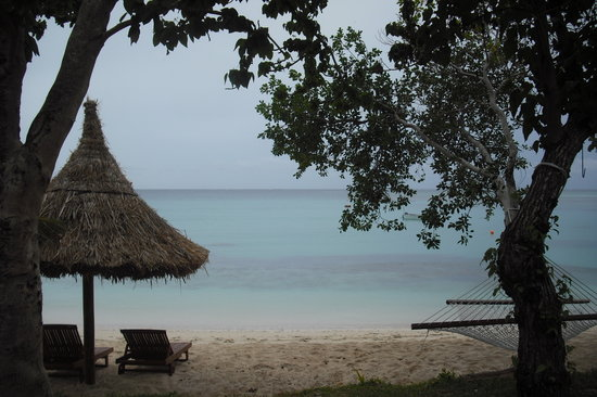 Nacula Island, Fiji: View from our porch on the Beachfront Burre