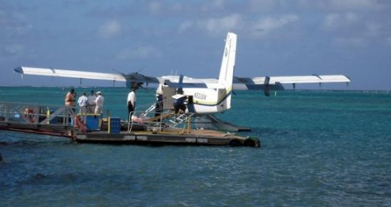 Christiansted, St. Croix: Passengers boarding a Seaborne Airlines flight to St. Thomas