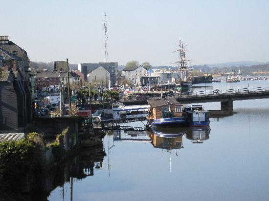 New Ross, Ireland: View from public area