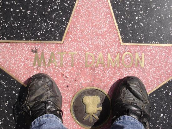 Hollywood Ouest, Californie : My Feet, Matt Damon