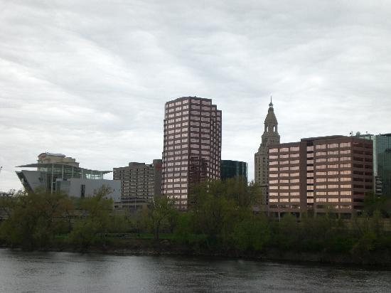 , : Hartford&#39;s Skyline from East Hartford