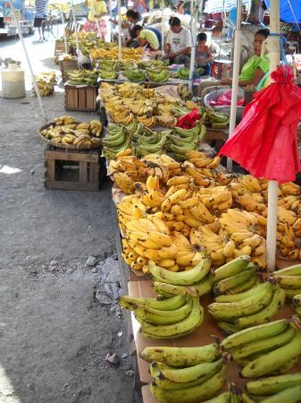 Bananas at the market in Tacloban City.