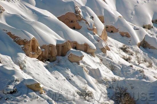 Uchisar, Turkey: Winter View towards  Pigeon Valley near Uçhisar, Cappadocia (Turkey) - View from the small Hotel