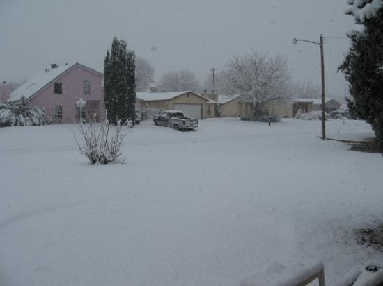 Carlsbad, NM: View from our front door looking down the street.