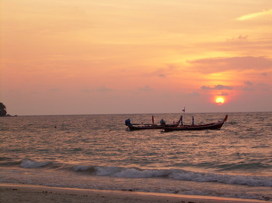 Nai Yang, Thailand: Sunset on final night