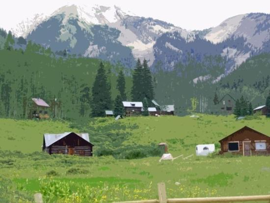 tiny town of gothic nearby picture of crested butte. Black Bedroom Furniture Sets. Home Design Ideas