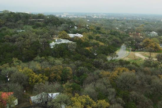 San Marcos, Teksas: view over the Hill Country from the Tower above Texas