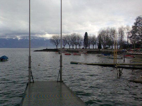 Lausanne, Zwitserland: Am Genfer See in Ouchy (1)