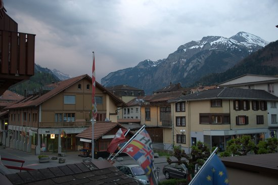 Unterseen, Schweiz: Montains viewed from the balcony of our hotel room(no.2)