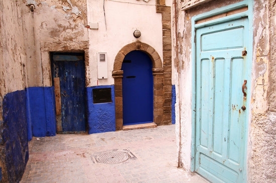 As-Sawira, Maroko: Essaouira blue doors