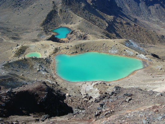 North Island, Yeni Zelanda: Emerald lakes