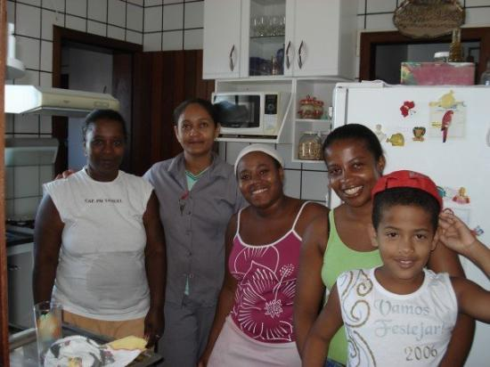 Feira de Santana, BA: The helpers at Maridelia's with some of their friends from the condominmium.