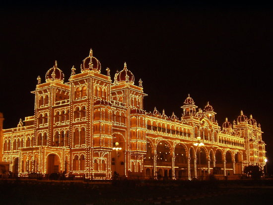 Mysore, Inde : in lights