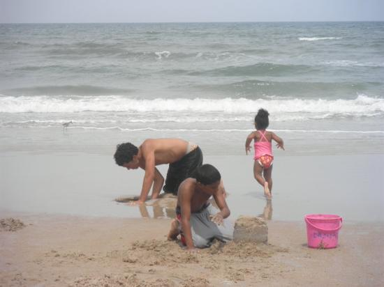 My babies playing in the sand @ Daytona Beach!