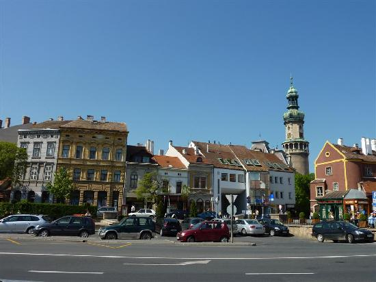 Sopron, Hungary: Watch tower from outside town center