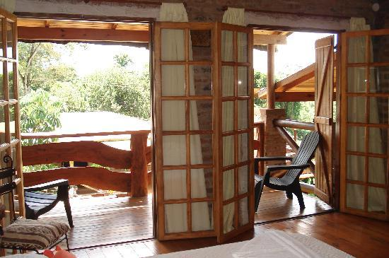 Double french doors that open out to your balcony for French doors that open out