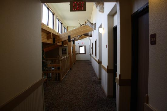 AmericInn Motel & Suites Medora: Corridor to the rooms (indoor corridors)