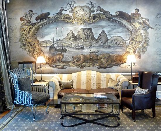 wall murals are hand painted picture of cape grace cape town. Black Bedroom Furniture Sets. Home Design Ideas