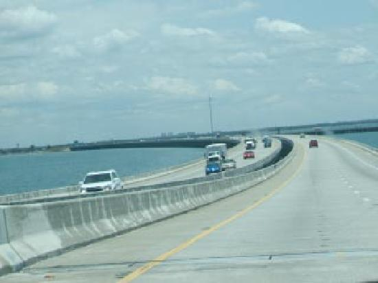 Going straight up picture of sunshine skyway bridge for Skyway fishing report