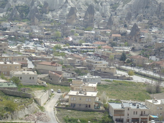 Cappadocia, Turkey: Goreme town from a high point