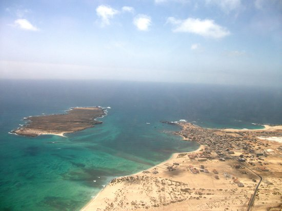Boa Vista, Kap Verde: View of the Island from the plane