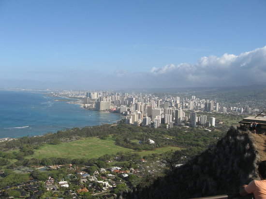 Honolulu, Hawaï : View from Diamond Head