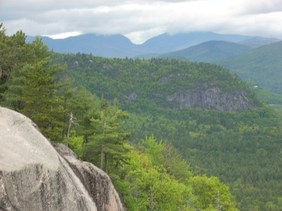 North Conway, NH: A view from nearby Cathedral Ledge.