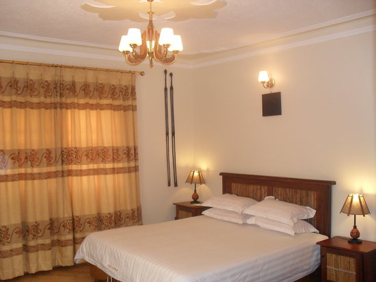 The Double bed at The Lodge kampala hotel
