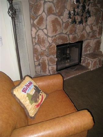 Snow Lake Lodge: The fireplace... each unit has two