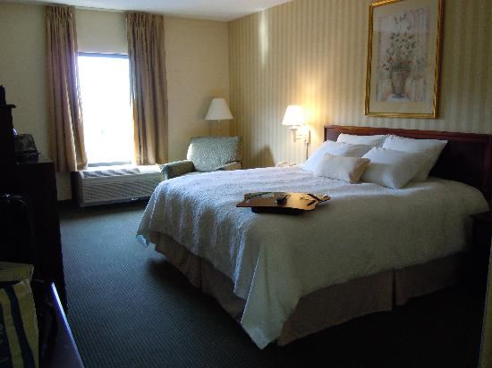 Hampton Inn Waynesboro / Stuarts Draft: spacious and comfy bed area