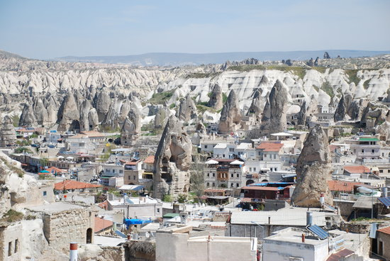 Cappadocia, Turkey: View of Goreme from the Kelebek