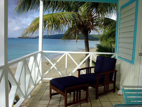 Cottages by the Sea: The balcony of our Crow's Nest cottage.