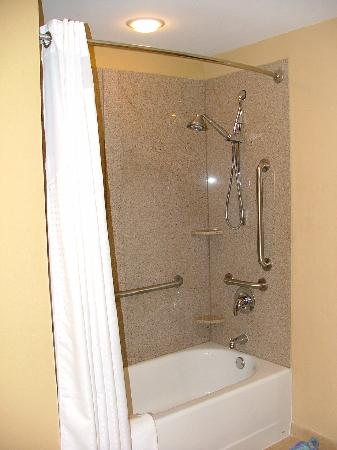 Holiday Inn Express Hotel & Suites Gulf Shores: The bathroom fixtures would be suitable in a more luxurious place.