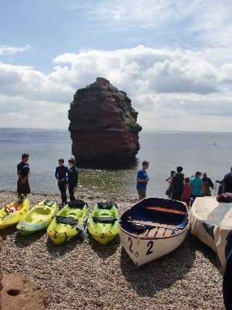 Budleigh Salterton, UK: Private beach of Ladram Bay
