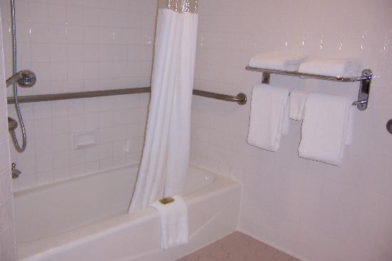 ‪‪Drury Inn & Suites Springfield‬: shower with towel rack‬
